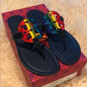 NWT Tory Burch Rainbow Miller Sandals